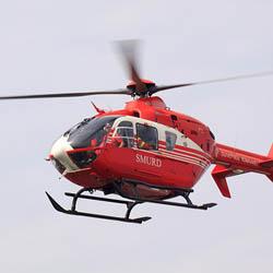 Luat de un elicopter SMURD
