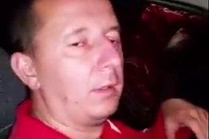 Şeful Postului de Poliţie Crişcior, filmat în timp ce conducea băut