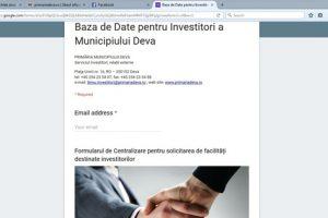 Bază de date pentru investitori