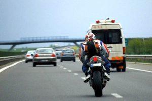 Motociclist polonez, cu 200 de km/h pe autostradă